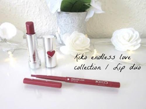 SEO CEO Kiko lip duo Lip liner lipstick endless love collection