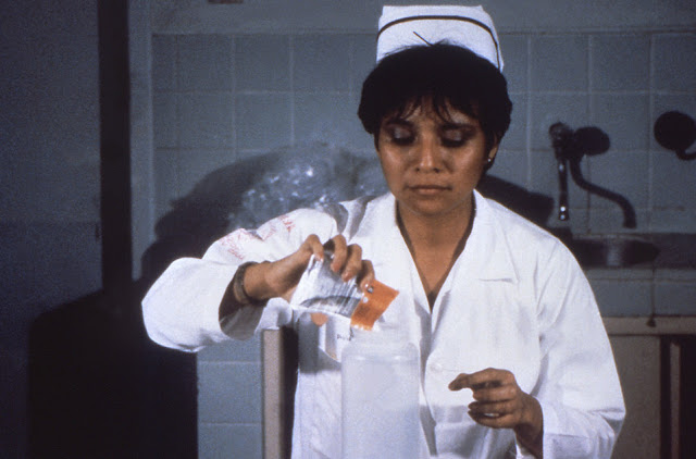 a nurse mixed ors with water