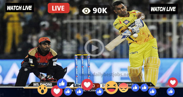 SRH vs CSK Live Streaming Online Today's Match IPL