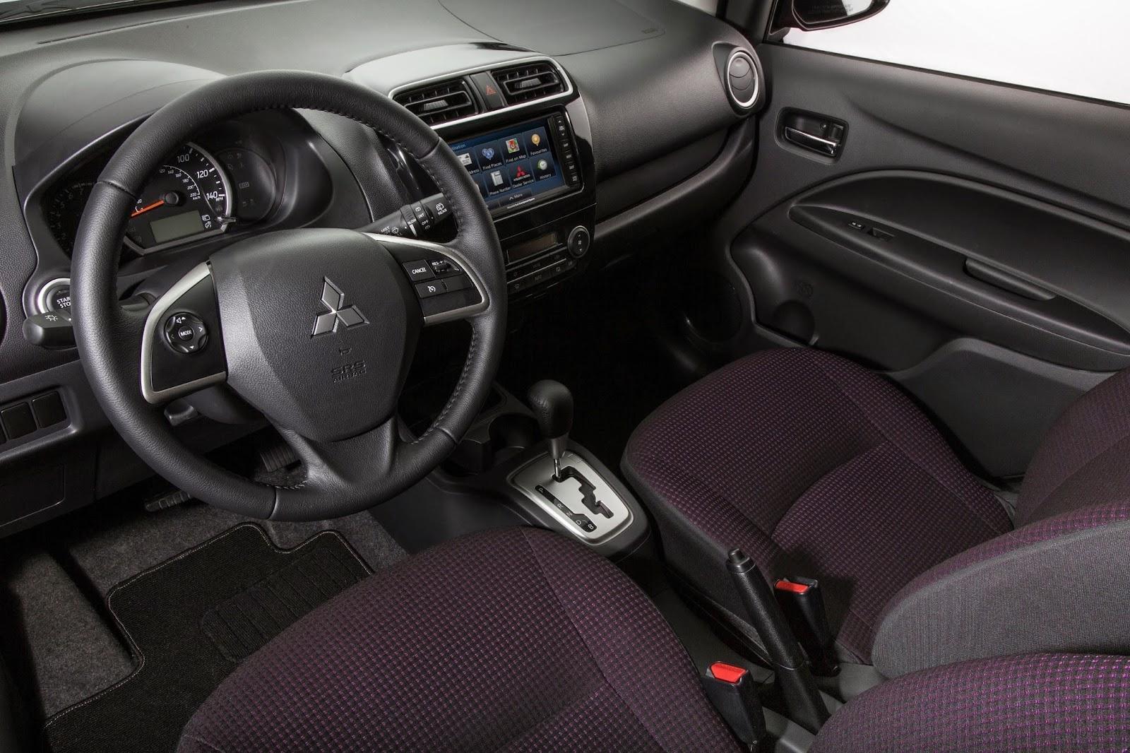 Interior view of 2014 Mitsubishi Mirage