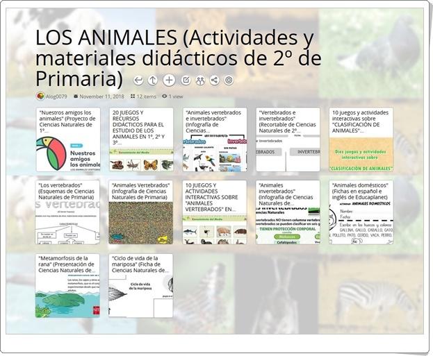 """""""12 Actividades y materiales didácticos para el estudio de LOS ANIMALES en 2º de Primaria"""""""