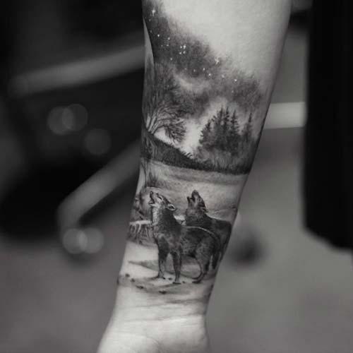 bozkurt kol dövmeleri erkek wolf arm tattoos for men