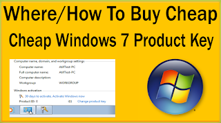 Where / How To Buy Windows 7 Cheap Product Key Online With Genuine COA Sticker?