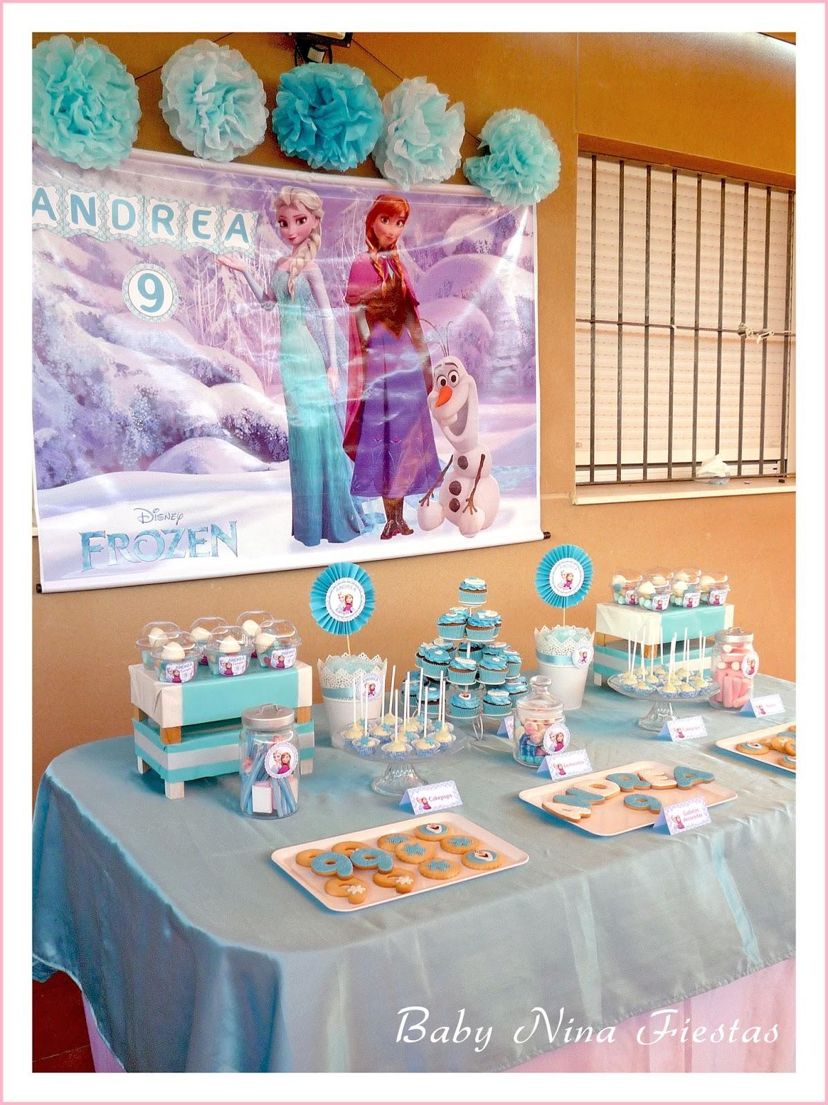 Decoracion de mesas de frozen for Mesas decoradas para fiestas