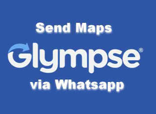 Share Lokasi di Whatsapp via Glympse Maps