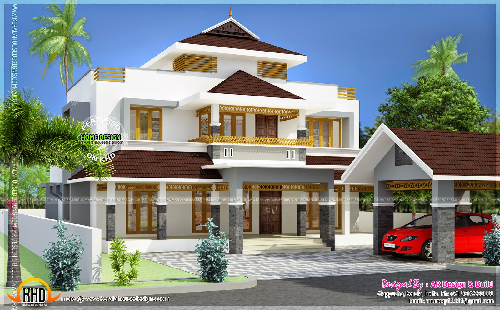 July 2014 kerala home design and floor plans for Kerala house plans 2014