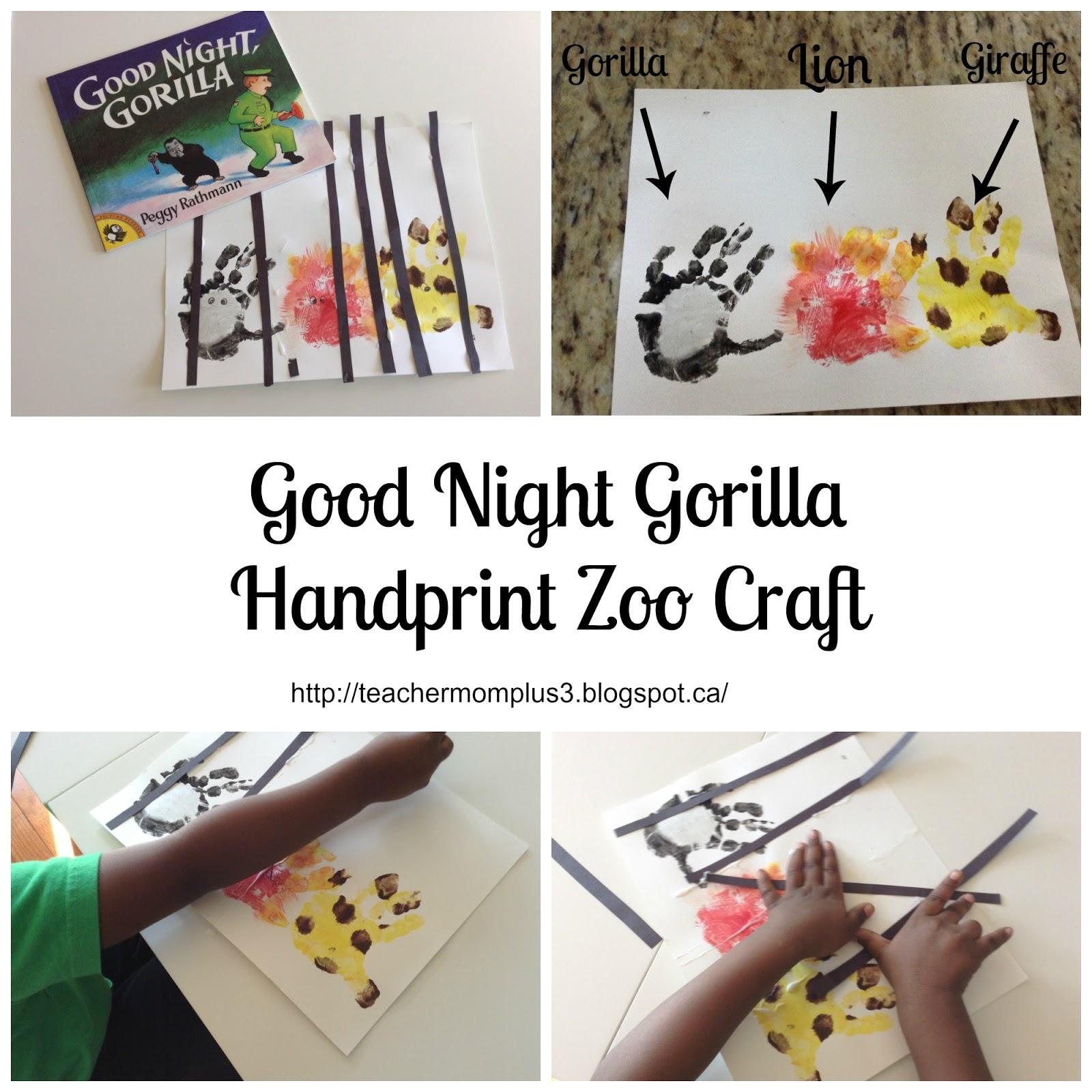 Teachermomplus3 Tot School Good Night Gorilla Craft
