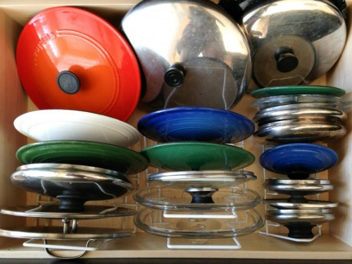 kitchen storage solutions for lids