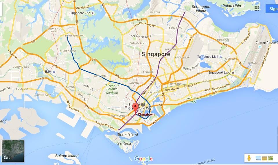 Singapore Urban Adventures - Chinatown Food Adventure Map - Tourist on