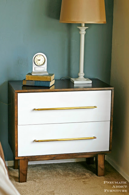Modern two tone nightstand dresser tutorial