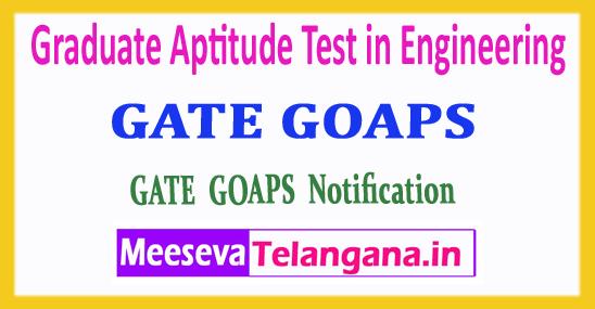 GATE GOAPS Graduate Aptitude Test in Engineering 2018 Login Registration Notification Exam Dates Syllabus Download