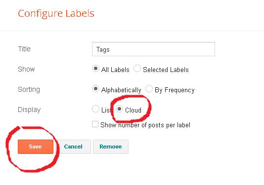 Cara Modifikasi Label Blog