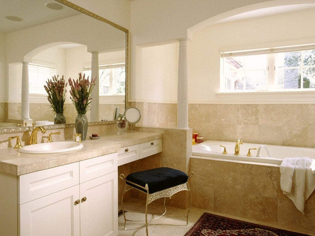 Bathroom Vanity With Seating Area