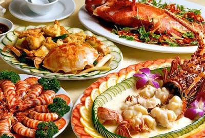 Những món ăn hải sản tươi ngon