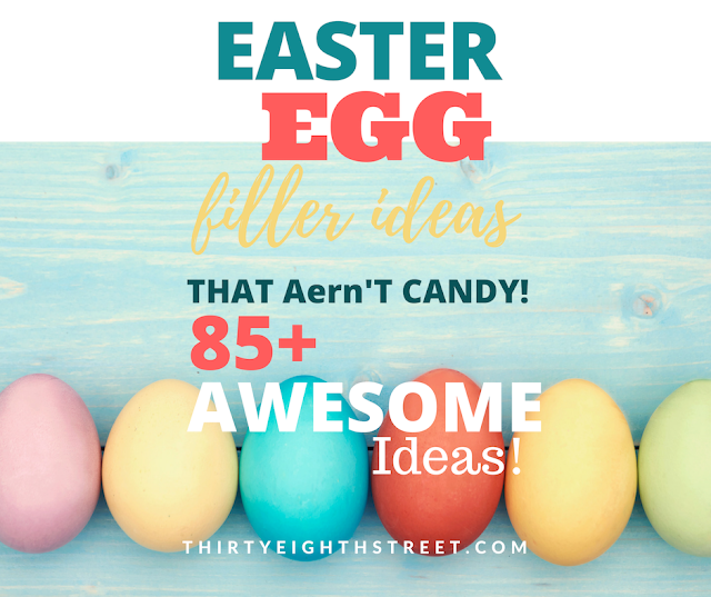 Easter Egg Basket Ideas, No candy easter basket ideas, No Candy Easter Egg Ideas, Easter Basket Ideas