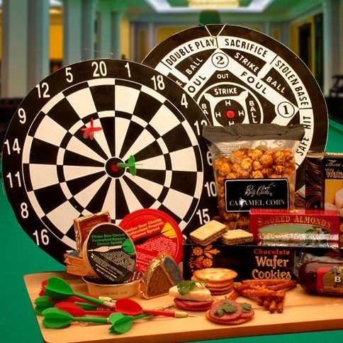 Dart Board Gift Basket