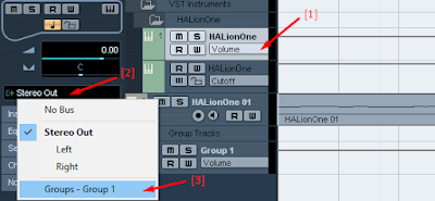 Setting input Group HalionOne