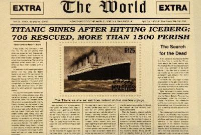 Sejarah Tenggelamnya Kapal Titanic  Tragedi 15 April 1912 merupakan peristiwa sebuah kapal penumpang super Britania Raya bernama Titanic yang tenggelam di Samudra Atlantik Utara pada tanggal 15 April 1912 setelah menabrak sebuah gunung es pada pelayaran perdananya dari Southampton, Inggris ke New York City. Tenggelamnya Titanic mengakibatkan kematian sebanyak 1.514 orang dalam salah satu bencana maritim masa damai paling mematikan sepanjang sejarah. Titanic merupakan kapal terbesar di dunia pada pelayaran perdananya. Satu dari tiga kapal samudra kelas Olympic dioperasikan oleh White Star Line. Kapal ini dibangun pada 1909 sampai 1911 oleh galangan kapal Harland and Wolff di Belfast. Kapal ini sanggup mengangkut 2.224 penumpang. Ketika kapal tersebut tenggelam ke dalam laut, kedua bagian tersebut menjunam dalam cara berlainan. Bahagian haluan yang runcing mendatar kira-kira 609 m (2,000 kaki) di bawah permukaan dan mendarat dengan agak perlahan. Bahagian buritan bagaimanapun tenggelam dengan laju ke dasar lautan; badan kapal terburai akibat penguncupan udara yang terperangkap dalam kapal. Bahagian buritan kapal menghentam dasar pada kelajuan tinggi, terbenam jauh ke dalam lumpur. Bangkai Titanic masih ada di dasar laut, perlahan hancur di kedalaman 12.415 kaki (3,784 m). Sejak ditemukan kembali pada