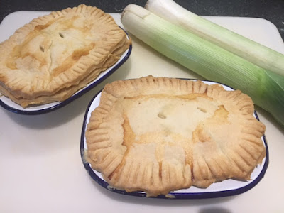 Ham and Leek Pies straight out of the oven