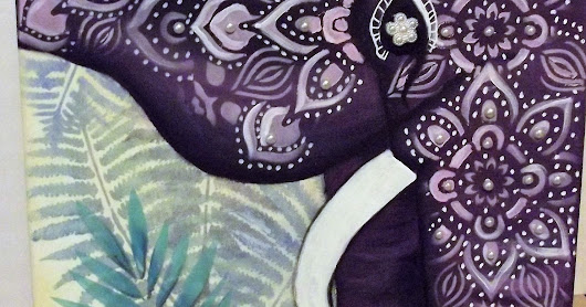 Bohemian Elephant with DecoArt
