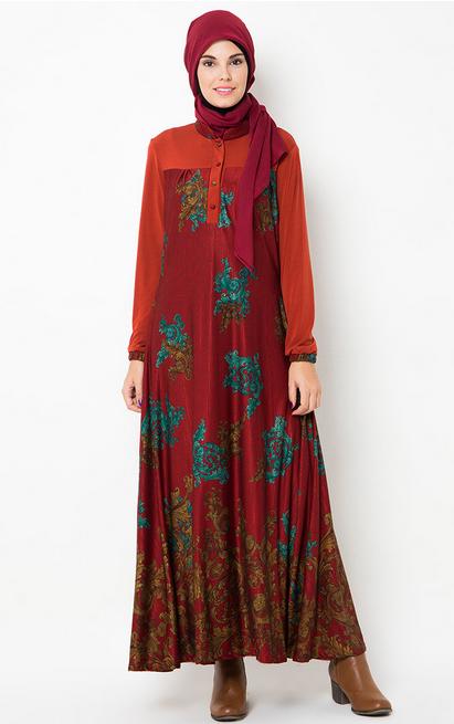 Contoh Foto Baju Muslim Batik Untuk Wanita Gamis