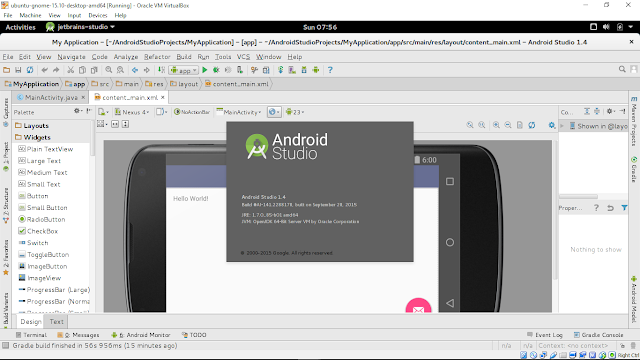 Install Android Studio On 64-Bit Ubuntu 15.10 Alongside Ubuntu Brand (Umake)