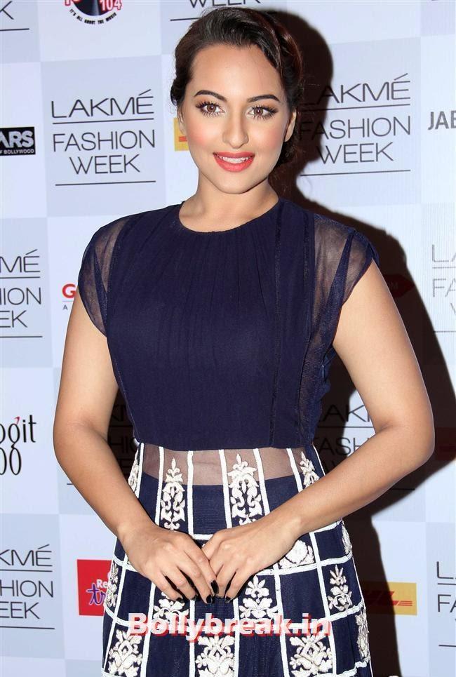 Sonakshi Sinha, Bollywood Actresses at Manish Malhotra Show at LFW Summer Resort 2014