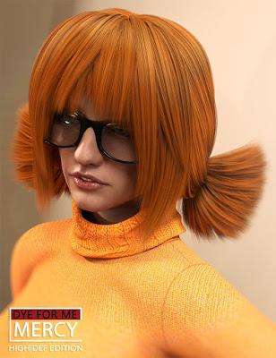 D4M Mercy Hair for Genesis 3 Female(s)