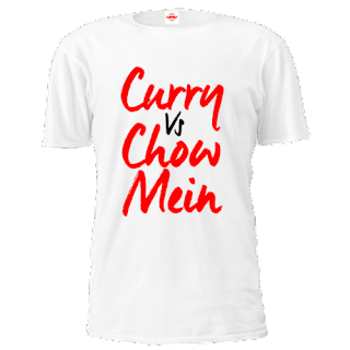 curry vs chow mein white tshirts online