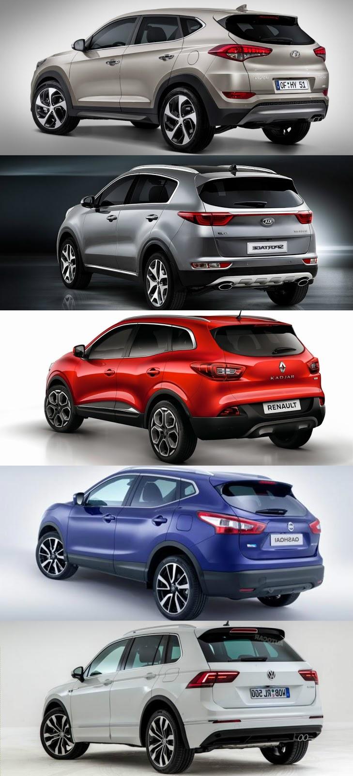 Hyundai tucson kia sportage nissan qashqai renault kadjar vw tiguan kar la t rmas sekizsilindir com