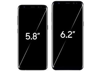 أبعاد ومواصفات شاشة Samsung Galaxy S8 Duos