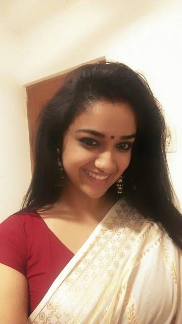 Keerthi suresh in Saree pic