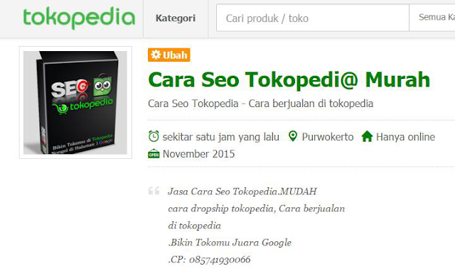 OPTIMASI Tokopedia
