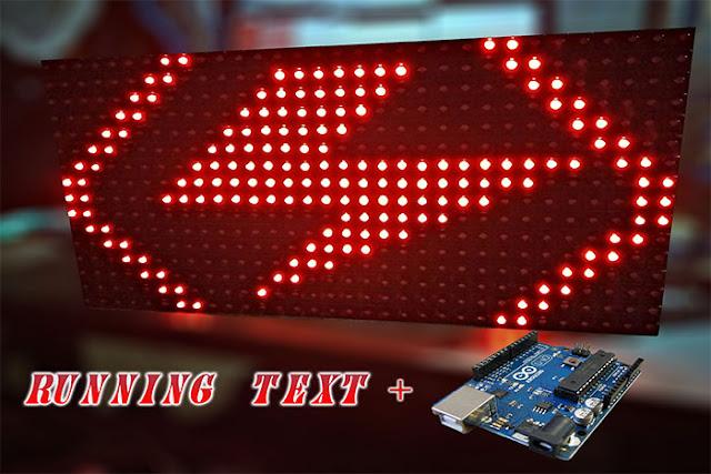 Membuat running text led matrix p menggunakan arduino