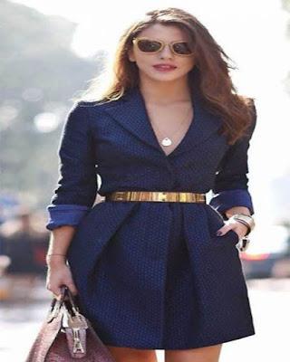 vestido formal azul corto