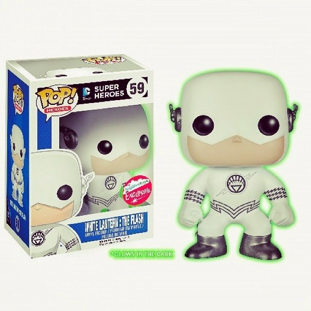 San Diego Comic-Con 2014 Exclusive Glow in the Dark White Lantern The Flash DC Comics Pop! Vinyl Figure by Funko