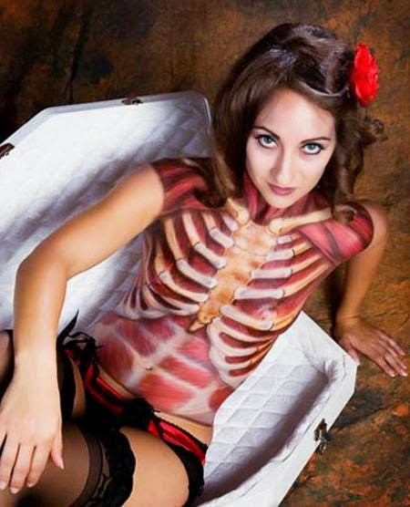 Creative Art And Craft Ideas Halloween Body Paint Ideas