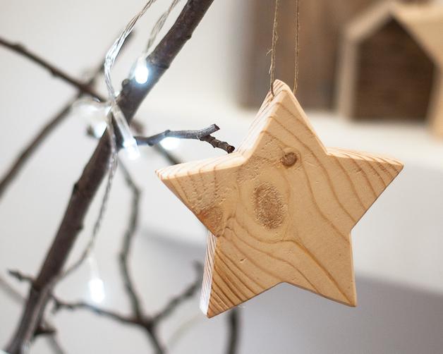 gwiazdka drewniana na choinke dawanda twobrokesisters
