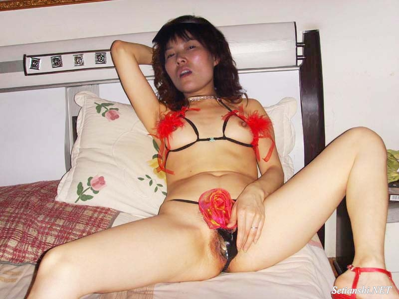 Asian wife masturbating