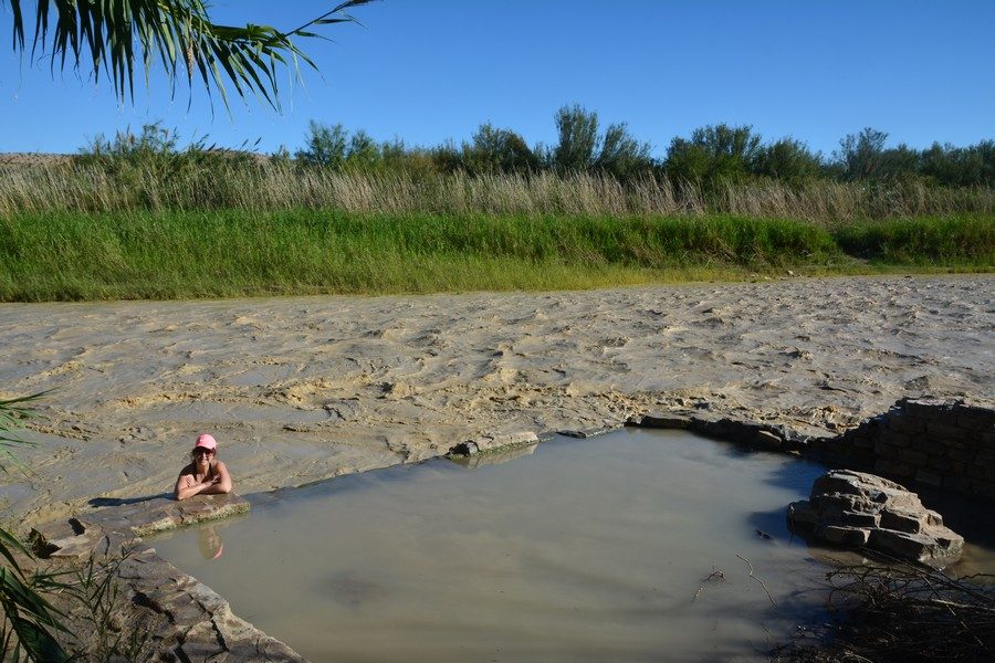 Baignade dans le Rio Grande