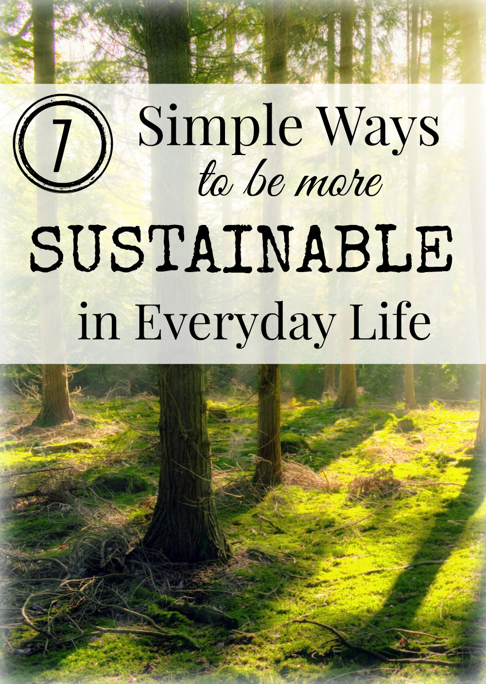 "7 Simple Ways to become more sustainable in everyday life. Small steps that are often easy to take in order to be reduce your eco footprint and be more ""green"" 
