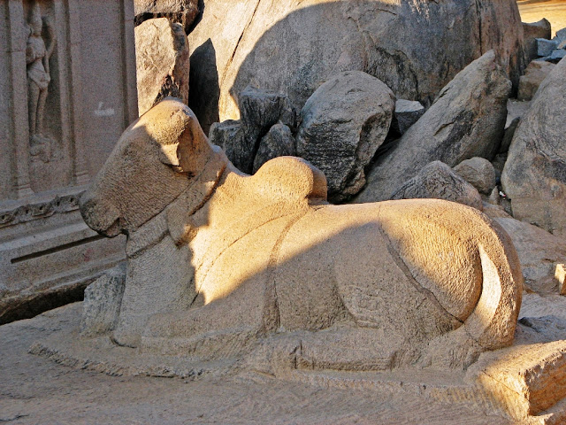 Mahabalipuram Monolithic Stone Chariots - Nandi - the vehicle of Shiva