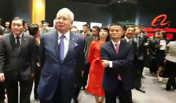 PM Najib Razak Melawat Ibu Pejabat Alibaba Di China Atas Jemputan Jack Ma