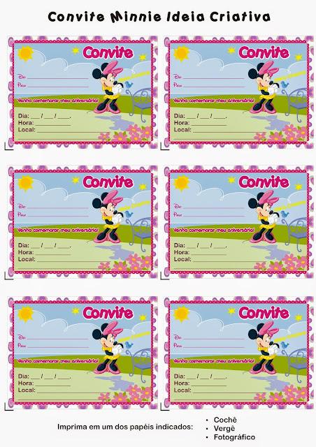 Para hacer invitaciones, tarjetas, marcos de fotos o etiquetas, para imprimir gratis de Minnie Cumple 5 Años.