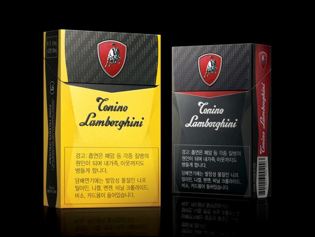Tonino Lamborghini Cigarettes On Packaging Of The World