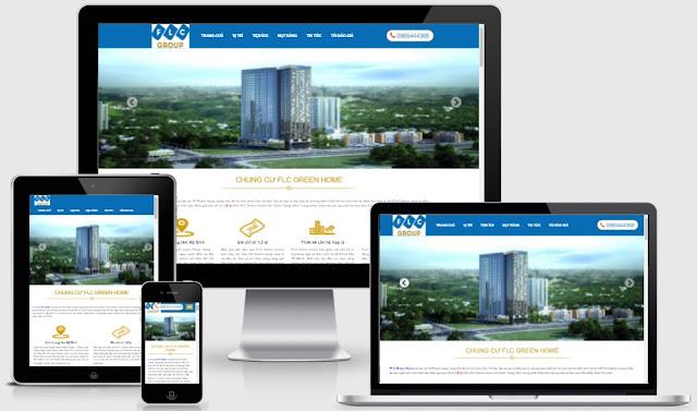 Template blogspot bất động sản 1 dự án chuẩn SEO 2018