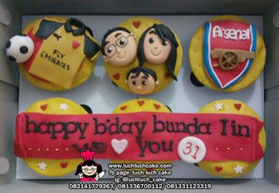 Cupcake Ulang Tahun Tema Arsenal