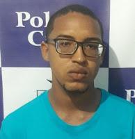 """André Luiz Feliciano Cruz, vulgo """"Deco"""", de 19 anos, apontado pelo Serviço de Investigação (SI) como um dos autores de uma tentativa de assalto em plena luz do dia ocorrido no dia 12 de novembro de 2018 na Av. Alberto Passos."""
