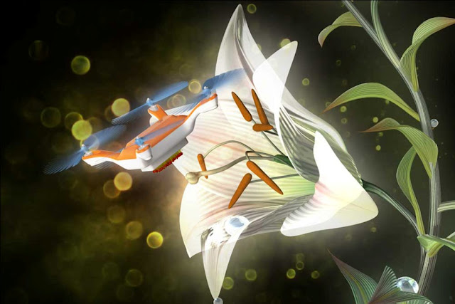 This pollinator drone may be the solution to declining bee population to pollinate the crops