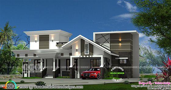 1460 square feet 3 bedroom single floor modern house